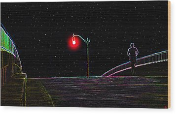 Midnight Run Wood Print by David Lee Thompson