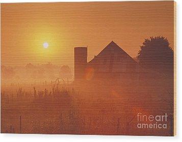 Midwestern Rural Sunrise - Fs000405 Wood Print by Daniel Dempster