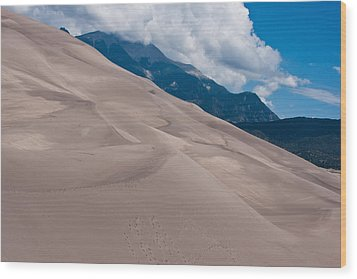 Miles Of Sand Wood Print by Colleen Coccia