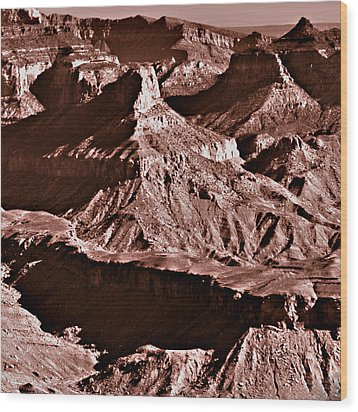 Milk Chocolate Mountains Wood Print by Bob and Nadine Johnston