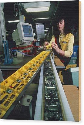 Mindstorm Programmable Lego Brick Manufacture Wood Print by Volker Steger