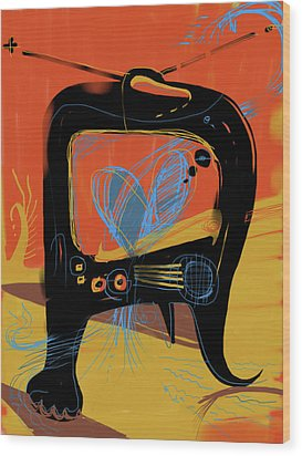 Miro Andmax Watch Lucy Wood Print by Russell Pierce