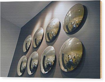 Mirrors Mirrors More Mirrors Wood Print by Kantilal Patel