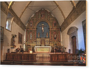 Mission San Carlos Borromeo De Carmelo  11 Wood Print by Bob Christopher