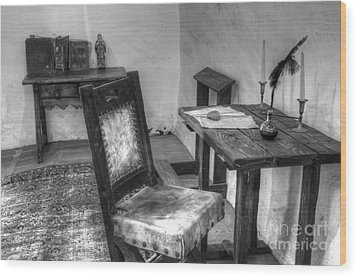 Mission San Diego De Alcala Writing Table Wood Print by Bob Christopher