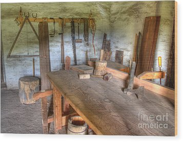 Misssion La Purisima Carpenters Room Wood Print by Bob Christopher