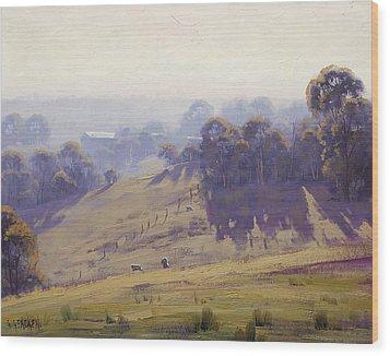 Misty Morning Cottles Bridge Wood Print by Graham Gercken