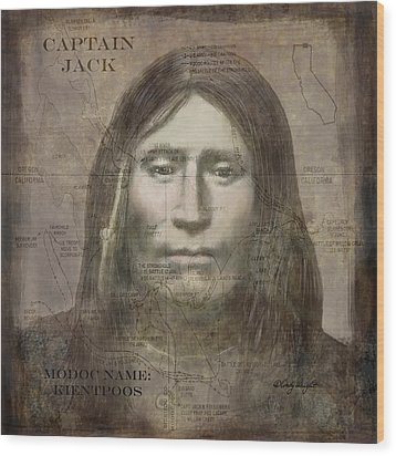 Modoc Indian Captain Jack Wood Print by Cindy Wright