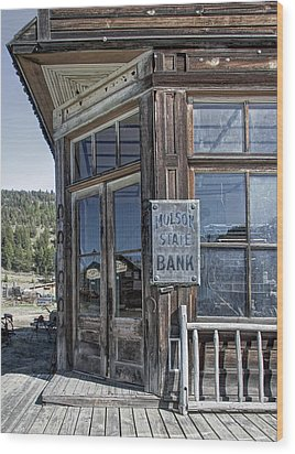 Molson Washington Ghost Town Bank Wood Print by Daniel Hagerman
