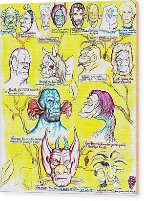 Monster Genealogy Wood Print by Jamie Jonas