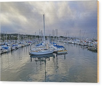 Monterey Harbor Marina - California Wood Print by Brendan Reals