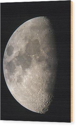 Moon Against The Black Sky Wood Print by John Short