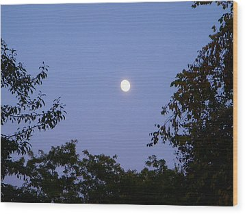 Moon Wood Print by Aimee L Maher Photography and Art Visit ALMGallerydotcom