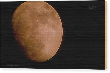 Moon Over The Cheat River 2012 Wood Print by Dale Briggs