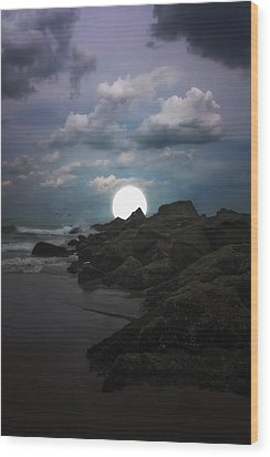 Moonlight Tonight Wood Print by Tom York Images