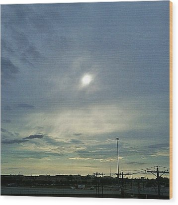 #morning #andrography #nexuss #clouds Wood Print by Kel Hill