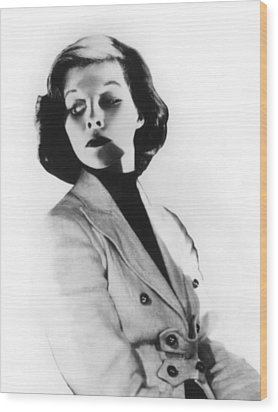 Morning Glory, Katharine Hepburn, 1933 Wood Print by Everett