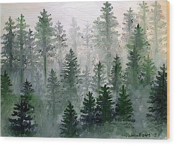 Morning In The Mountains Wood Print by Shana Rowe Jackson