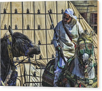Morocco Festival II Wood Print by Chuck Kuhn