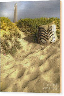 Morro Bay Tiki Head Wood Print by Gregory Dyer