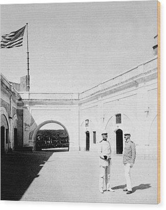 Morro Castle - Interior - San Juan - Puerto Rico - C 1900 Wood Print by International  Images