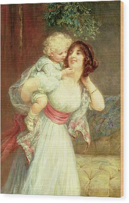 Mothers Darling Wood Print by Frederick Morgan