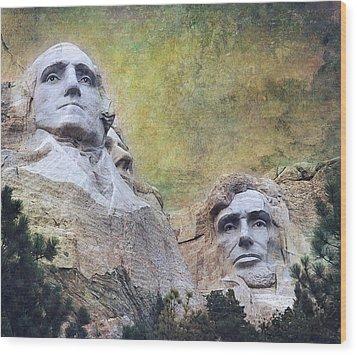 Mount Rushmore - My Impression Wood Print by Jeff Burgess