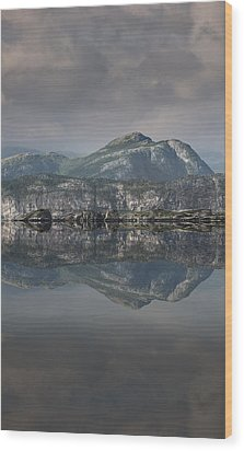 Mountain Reflection Wood Print by Andy Astbury