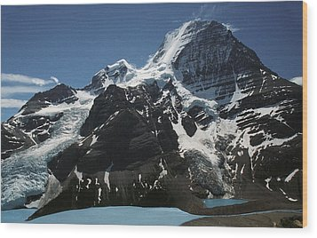 Mountain With Glacier And Snow Wood Print by Kelly Redinger