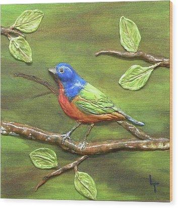 Mr. Bundting Wood Print by Lorrie T Dunks