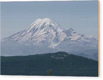Mt. Rainier Seen From The Yakima Valley Wood Print by Sisse Brimberg