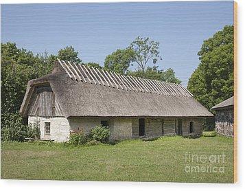 Muhu Museum Exterior In Estonia Wood Print by Jaak Nilson