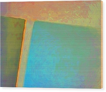 Wood Print featuring the digital art My Love by Richard Laeton