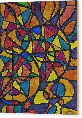 My Three Suns Wood Print by Jaime Haney