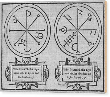 Mystical Pendants, 16th Century Wood Print by Middle Temple Library