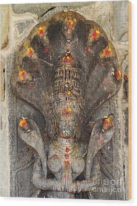 Naga Goddess Wood Print by Jarrod Brown