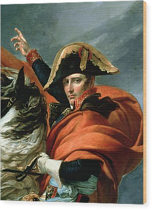 Napoleon Crossing The Alps On 20th May 1800 Wood Print by Jacques Louis David