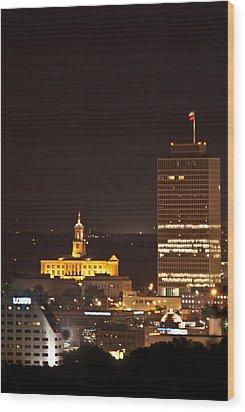 Nashville Cityscape 5 Wood Print by Douglas Barnett