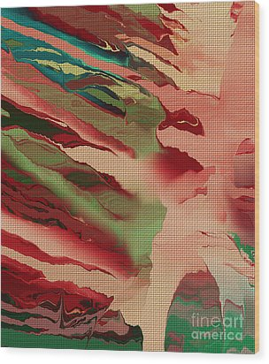 Native Abstract Weave Wood Print by Deborah Benoit