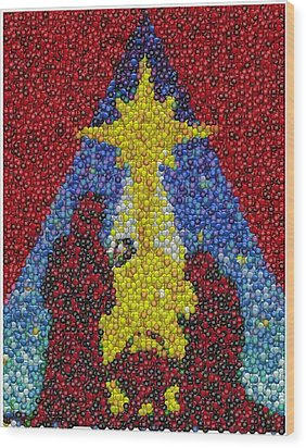 Nativity Mm Candy Mosaic Wood Print by Paul Van Scott