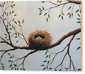 Nesting Wood Print by Amy Giacomelli