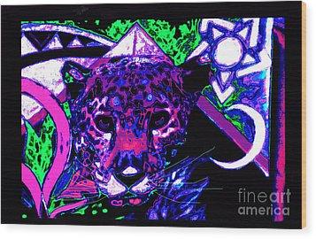 New Mu Jaguar Wood Print by Susanne Still