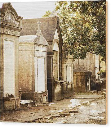 New Orleans Lafayette Cemetery No.1 Wood Print by Kim Fearheiley