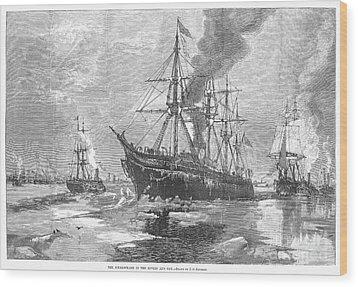 New York Harbor: Ice, 1881 Wood Print by Granger