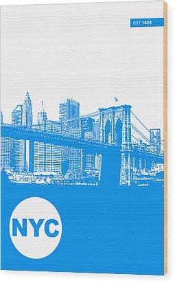 New York Poster Wood Print by Naxart Studio