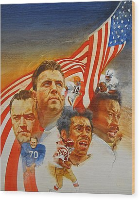 Nfl Hall Of Fame 1984 Game Day Cover Wood Print by Cliff Spohn
