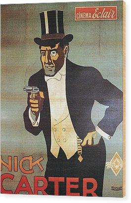 Nick Carter Wood Print by Georgia Fowler
