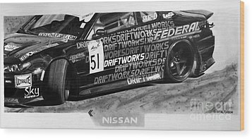 Nissan S15 Driftworks 2010 Wood Print by Gabor Bartal