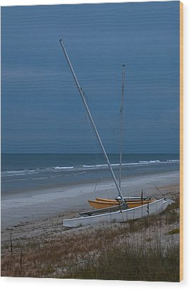 No Sailing Today Wood Print by DigiArt Diaries by Vicky B Fuller