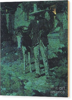Nocturne Contrast Wood Print by Pg Reproductions